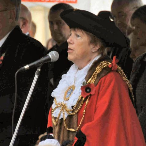 The Mayor of Brighton and Hove, Councillor Ann Norman, delivers the epitaph | Photo by Tony Mould