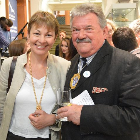 Councillor Bill Randall and Caroline Lucas MP | Photo by Tony Mould
