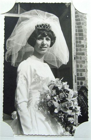 Sandra in her elegant wedding dress | From the private collection of Sandra Bohtlingk