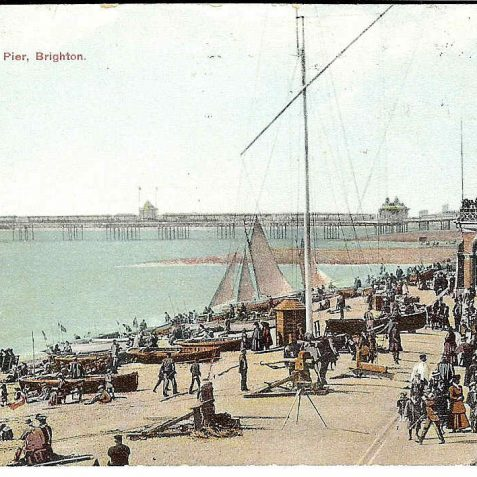 Seafront showing West Pier | From the private collection of Kenneth Ross