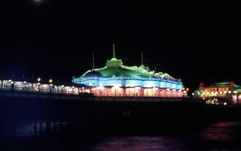 The West Pier at night