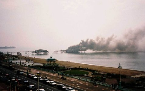 On fire in March 2003
