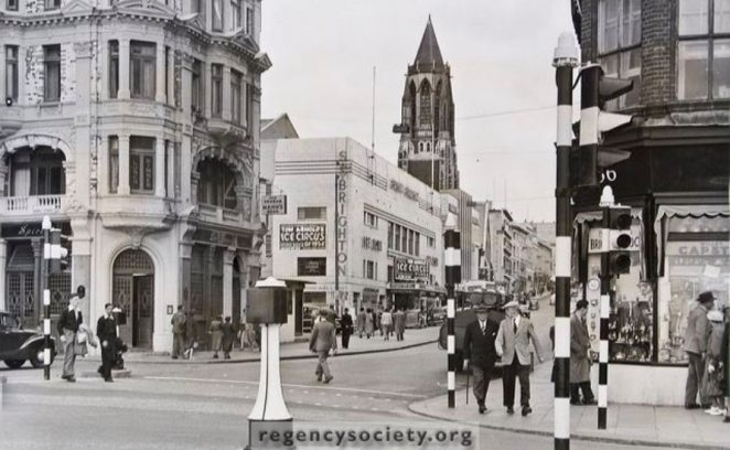 West Street in 1954 | Image reproduced with kind permission of The Regency Society and The James Gray Collection