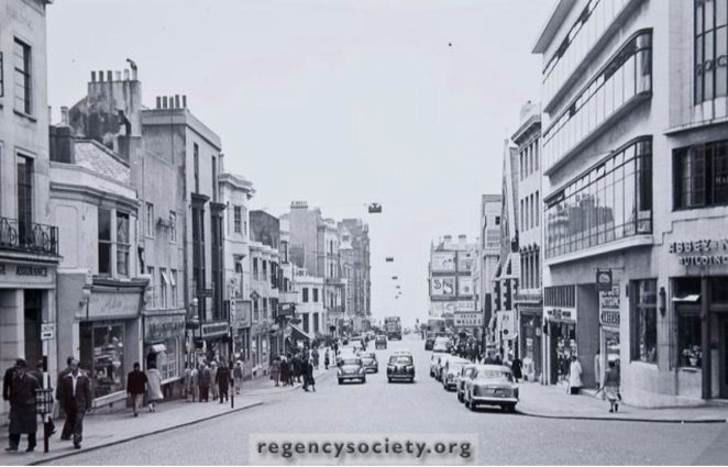 West Street in the 1960s | Image reproduced with kind permission of The Regency Society and The James Gray Collection