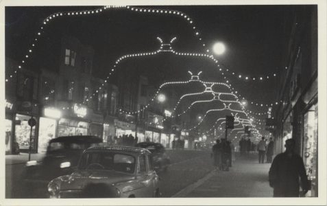 Christmas lights in 1959