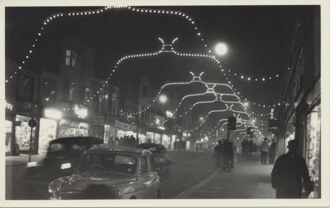 Western Road Christmas lights c1959 | From the private collection of Barrie Searle