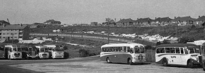 Buses in Whitehawk in the 1960s | From the private collection of Tricia Leonard. Submitted to the webiste at the My Brighton and Hove 1960s photo event at the History Centre, May 2004