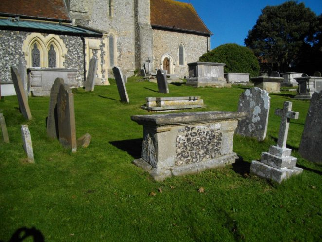 William Savage's grave in St Margaret's churchyard   Photo by Christopher Wrapson