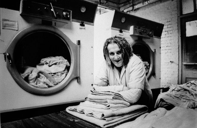 Mystery lady in Wilson's Laundry | ©Tony Tree