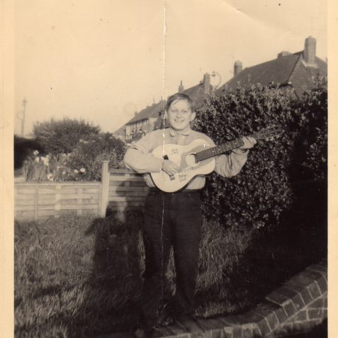 Me with my guitar | From the private collection of Stephen Raynsford