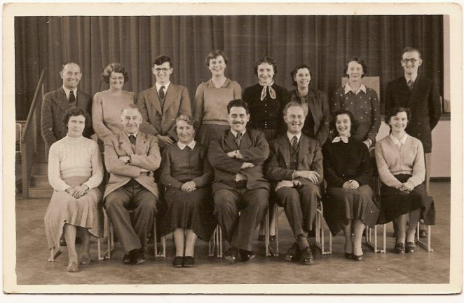 Woodingdean teachers late 1940s early 1950s | From the private collection of Janet Gravett (nee Baker)