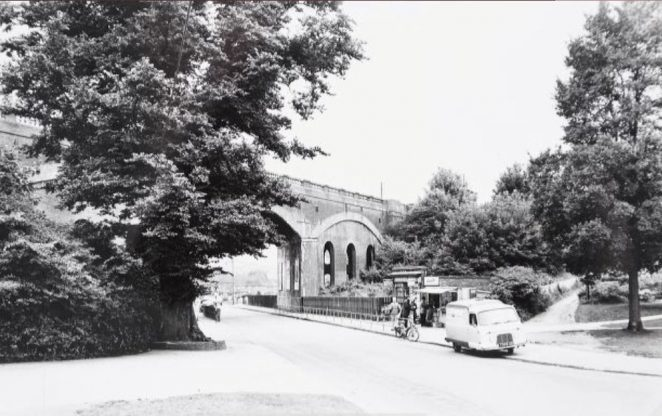 The widening of this important north-south road, from Hollingdean Road to Falmer, commenced in 1962 and was still continuing when this photograph was taken in 1963. The work was carried in stages, commencing with the stretch from Preston Barracks to Moulsecoomb. | Image reproduced with kind permission of The Regency Society and The James Gray Collection