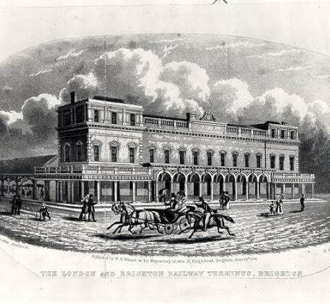The London and Brighton Railway Terminus, 1841 | Image reproduced with kind permission from Brighton and Hove in Pictures by Brighton and Hove City Council