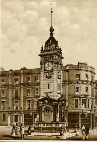 The Clock Tower, Date unknown: Engraving of the Clock Tower in North Street. | Image reproduced with kind permission from Brighton and Hove in Pictures by Brighton and Hove City Council