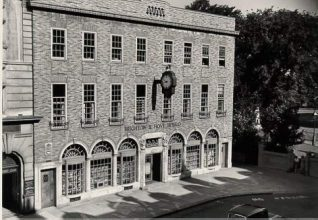 Brighton and Hove Herald Office, c. 1950: Brighton and Hove Herald office, in Pavilion Buildings | Image reproduced with kind permission from Brighton and Hove in Pictures by Brighton and Hove City Council