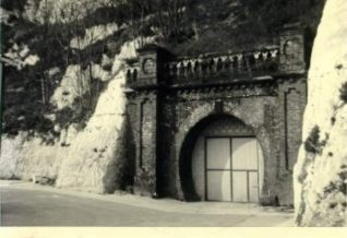 Kemp Town Railway Tunnel, 1976: Kemp Town railway tunnel, below Evelyn Terrace which led to the station. | Image reproduced with kind permission from Brighton and Hove in Pictures by Brighton and Hove City Council