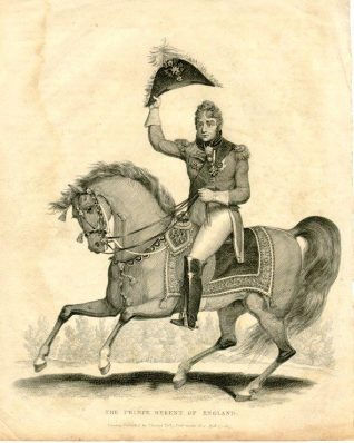 The Prince Regent of England, 1815: The Prince Regent, who later became King George IV, on horseback. | Image reproduced with kind permission from Brighton and Hove in Pictures by Brighton and Hove City Council