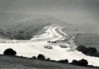 Building the Brighton By-pass, c. 1992: View of Brighton Bypass being constructed. Photograph Copyright Evening Argus. | Image reproduced with kind permission from Brighton and Hove in Pictures by Brighton and Hove City Council