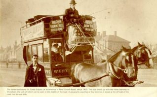 The Horse Bus, c. 1900: Horse bus with passengers and driver in New Church Road, Hove. | Image reproduced with kind permission from Brighton and Hove in Pictures by Brighton and Hove City Council