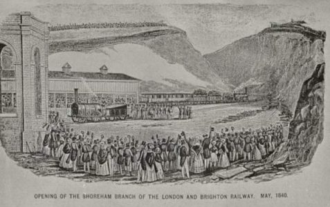 London main line construction 1838