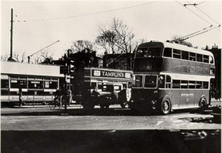 Trams and Trolley Buses, 1939: Trams and trolley buses at the terminus in the Steine just after the introduction of trolley buses and prior to the trams being phased out. | Image reproduced with kind permission from Brighton and Hove in Pictures by Brighton and Hove City Council