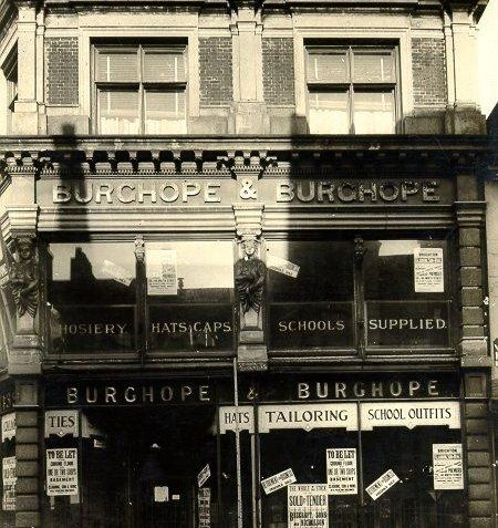 Burchope and Burchope stores, North Street, c. 1930: Exterior of Burchope and Burchope outfitters on North Street, after its closing down sale in the 1930's. | Image reproduced with kind permission from Brighton and Hove in Pictures by Brighton and Hove City Council