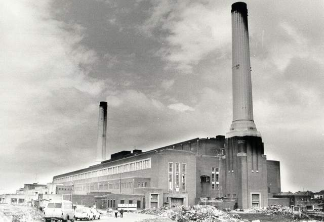 Shoreham Power Station, c. 1980: Shoreham Power Station prior to its demolition. Photograph Copyright Evening Argus. | Image reproduced with kind permission from Brighton and Hove in Pictures by Brighton and Hove City Council