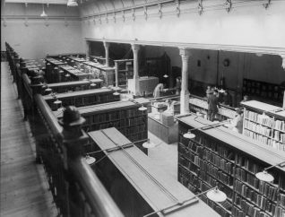 Brighton Lending Library, 1949: View from the balcony of Brighton Lending Library in May 1949. | Image reproduced with kind permission from Brighton and Hove in Pictures by Brighton and Hove City Council