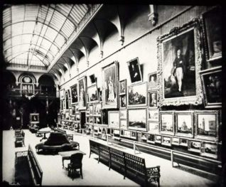 Brighton Art Gallery, Date unknown: Interior view of art gallery in Brighton Museum. | Image reproduced with kind permission from Brighton and Hove in Pictures by Brighton and Hove City Council