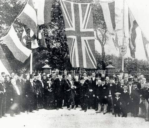 Opening of Queen's Park, 1891: The presentation of Queen's Park to Brighton Corporation as a public park. Photograph Copyright Evening Argus. | Image reproduced with kind permission from Brighton and Hove in Pictures by Brighton and Hove City Council