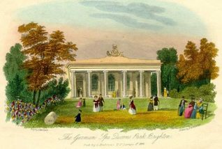 The German Spa at Queen's Park, 1841. | Image reproduced with kind permission from Brighton and Hove in Pictures by Brighton and Hove City Council