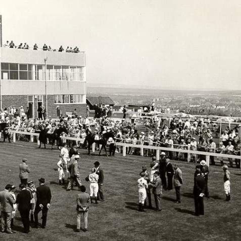 The paddock at Brighton race course, 1967. | Image reproduced with kind permission from Brighton and Hove in Pictures by Brighton and Hove City Council