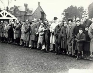 Crowd watching Whitehawk F.C. playing in Sussex Senior Cup in 1951. | Image reproduced with kind permission from Brighton and Hove in Pictures by Brighton and Hove City Council