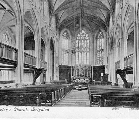 Interior of St Peter's Church, c. 1900 | Image reproduced with kind permission from Brighton and Hove in Pictures by Brighton and Hove City Council