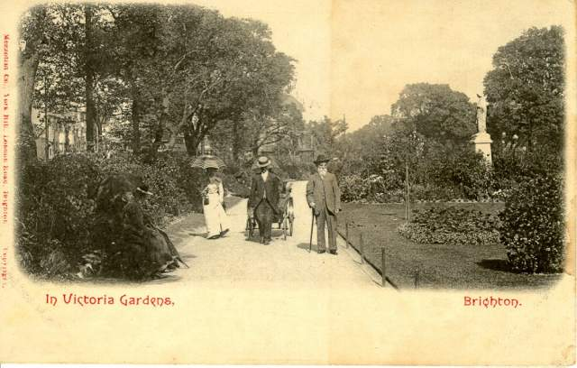 Walkers in Victoria Gardens, c. 1905 | Image reproduced with kind permission from Brighton and Hove in Pictures by Brighton and Hove City Council