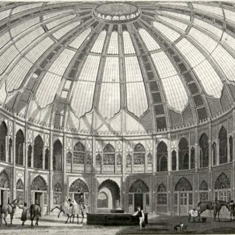 Dome Interior, Date unknown: Interior of the Dome as it was as a riding stable. | Image reproduced with kind permission from Brighton and Hove in Pictures by Brighton and Hove City Council