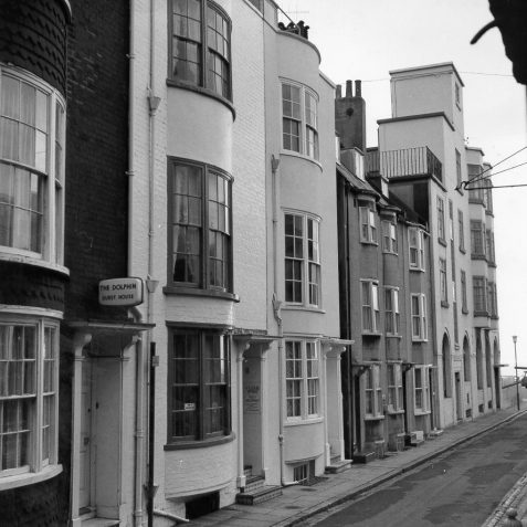 Charles Street, Date unknown: Charles Street Kemp Town looking towards the sea showing the Dolphin guest house | Image reproduced with kind permission from Brighton and Hove in Pictures by Brighton and Hove City Council