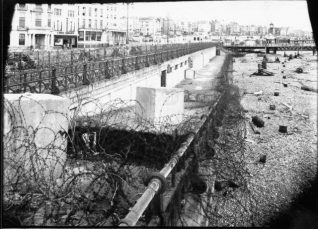 Sea Defences on Brighton beach, c. 1940s | Reproduced with kind permission of Brighton and Hove libraries