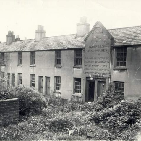 Howell's Almshouses, 15 May 1969: These almshouses were built in George Street by Charles Howell in 1858
