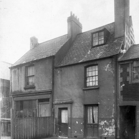 Regent Row, c. 1930: Houses in Regent Row, which formerly ran between Dyke Road and Regent Hill. Although a small part of Regent Row survives, the Marks and Spencer department store now stands on the site of these houses. | Image reproduced with kind permission from Brighton and Hove in Pictures by Brighton and Hove City Council