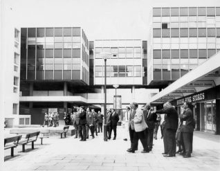 Visitors Admiring Churchill Square, 11 June 1969 | Image reproduced with kind permission from Brighton and Hove in Pictures by Brighton and Hove City Council