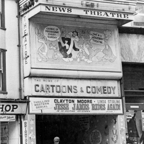 Prince's News Theatre, 4 February 1966:. It has now been refurbished as a fast-food restaurant. | Image reproduced with kind permission from Brighton and Hove in Pictures by Brighton and Hove City Council