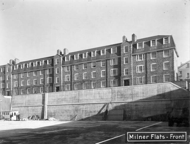 Milner Flats, (Front, January 1937) which were built on the site of Woburn Place in 1934   Image reproduced with kind permission from Brighton and Hove in Pictures by Brighton and Hove City Council