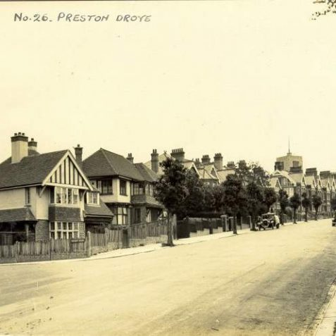 Preston Drove Looking East, c. 1930s: On the left is Bavant Road, which was developed between 1925-1929. | Image reproduced with kind permission from Brighton and Hove in Pictures by Brighton and Hove City Council
