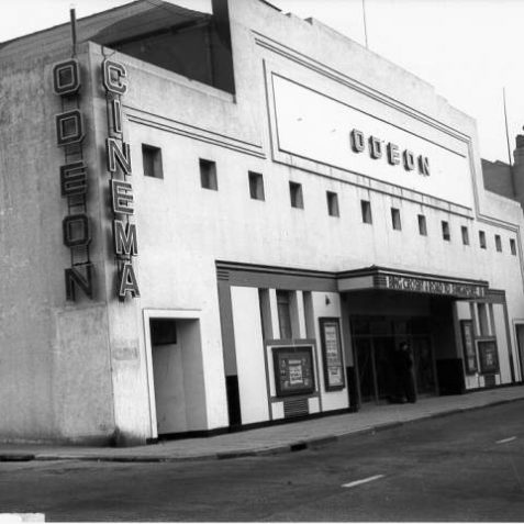 Odeon Cinema, Kemp Town, c. 1940s: Built at the corner of St George's Road and Paston Place on the site of the Sassoon family's riding school, the Odeon opened on 1 February 1934. With 900 seats it was a popular venue, but closed in November 1960 and became a bingo hall in 1962. In this post World War Two photograph, Bing Crosby is starring in