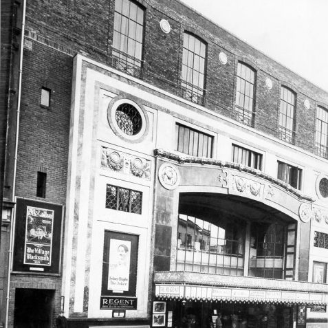 Regent Picture Theatre, c. 1930: Opened in 1921 at cost of over £400,000.it was designed by Robert Atkinson with a classical interior by Walpole Champneys. Seating about 3000 people, it was considered the most luxurious cinema in Britain.This photograph was taken after the Regent Dance Hall had been built on the roof in March 1923. The dance hall became a Bingo Hall in 1967. The cinema closed on 14 April 1973, and was demolished in 1974. The site is now occupied by the Boots store. | Image reproduced with kind permission from Brighton and Hove in Pictures by Brighton and Hove City Council