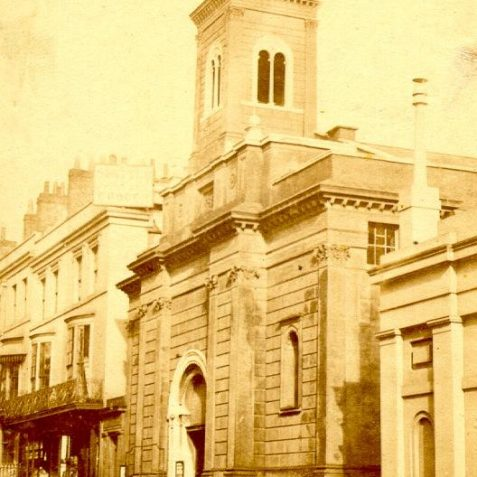 St. Andrew's Church, Waterloo Street, c. 1890: St. Andrew's Church was designed by Charles Barry in 1828 and was the first Italianate church to be built in England. It was built as the church for the Brunswick Town which the builder Amon Wilds and architect Charles Busby had begun working on in 1824. | Image reproduced with kind permission from Brighton and Hove in Pictures by Brighton and Hove City Council