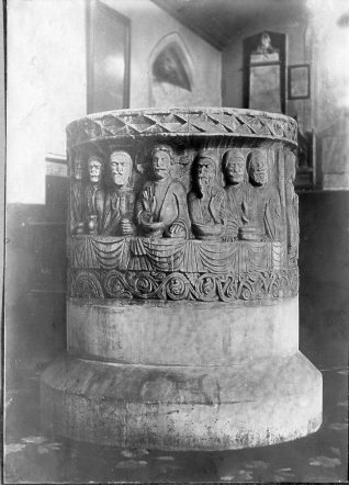 Font of St. Nicholas' Church, c. 1910 | Image reproduced with kind permission from Brighton and Hove in Pictures by Brighton and Hove City Council