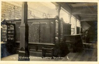 Victoria Lending Library , c. 1910: Victoria Lending Library was opened on 16 October 1889 by the Mayor William Sendall with a stock of over 17,000 volumes in rooms now part of the Museum and Art Gallery, Church Street. To accommodate the steadily increasing stock and members, the library transferred to a larger room, reopening on 5 November 1902 | Image reproduced with kind permission from Brighton and Hove in Pictures by Brighton and Hove City Council