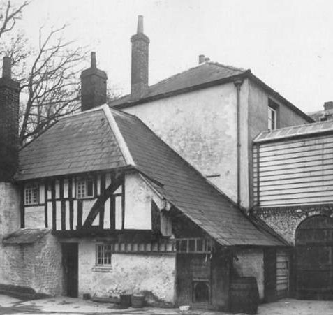 Cottage behind Moulsecoomb Place, Date unknown: This timber-framed cottage can be found on the west side of Moulsecoomb Place and is said to be the oldest secular building in Brighton, dating from 1500 or earlier. It is the only surviving part of a larger building, perhaps the mediaeval manor house. George IV was reputedly a regular visitor when Prince Regent. | Image reproduced with kind permission from Brighton and Hove in Pictures by Brighton and Hove City Council